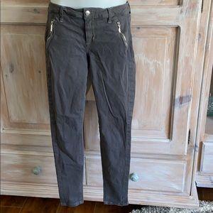 Joe's Ankle ZIP Skinny Gray Pants Women's 28